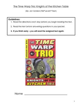 Time-Warp-Trio-Knights-Of-The-Kitchen-Table-Lesson-Plans