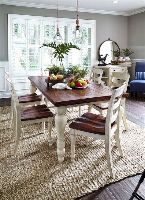Timeless-Farmhouse-Dinning-Table-With-Chairs