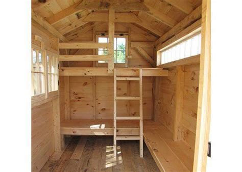 Tiny Bunkhouse Plans With Interiors