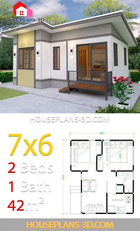 Tiny Home 2 Bedroom House Plans