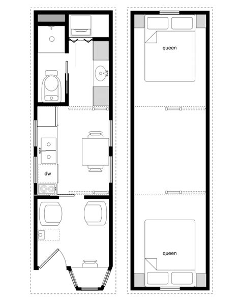 Tiny House Building Plans 8 X 24