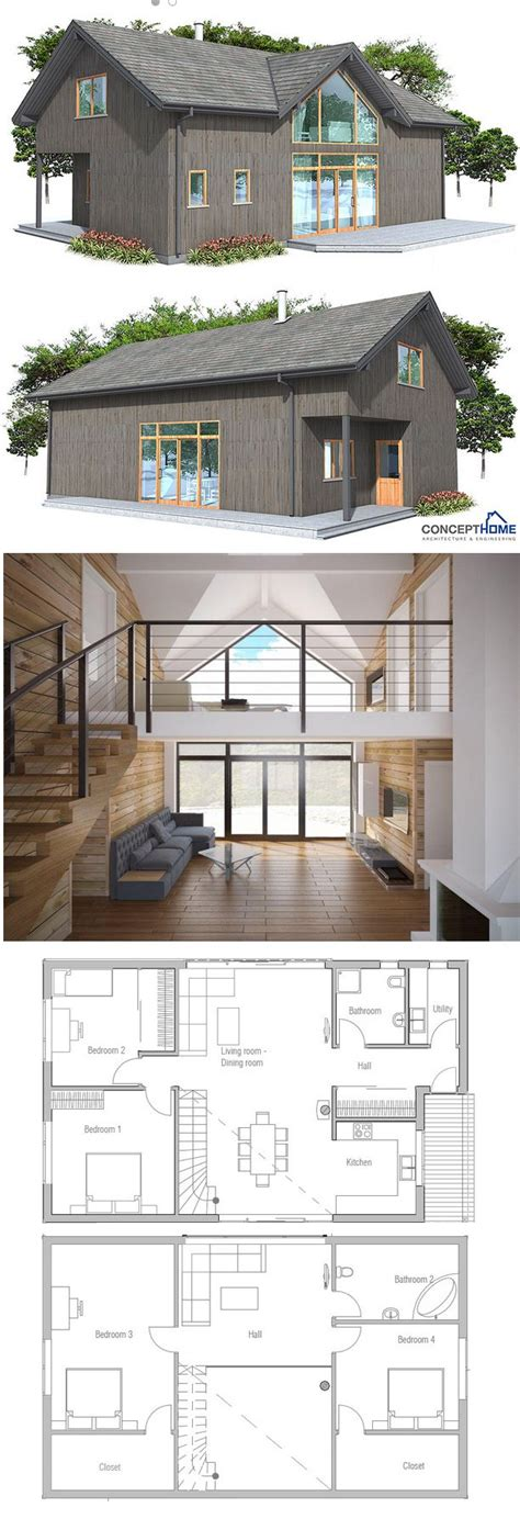 Tiny-4-Bedroom-House-Plans-With-Loft