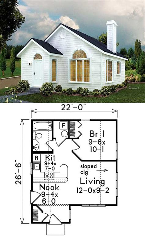 Tiny-One-Floor-House-Plans