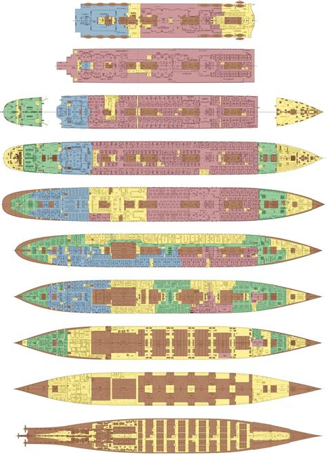 Titanic Deck Plans With Cabin Numbers