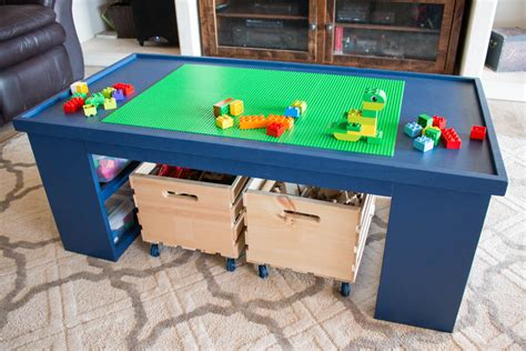 Toddler Activity Table Diy With Shelf