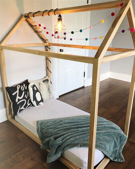 Toddler Bed House Frame Diy With Sticks
