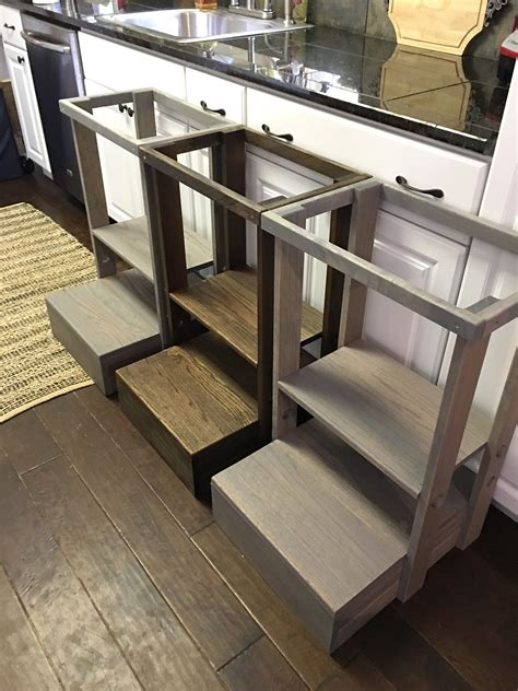 Toddler Kitchen Helper Stool Diy
