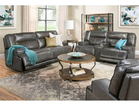 Tompkins Collection Gray Power Reclining Sofa