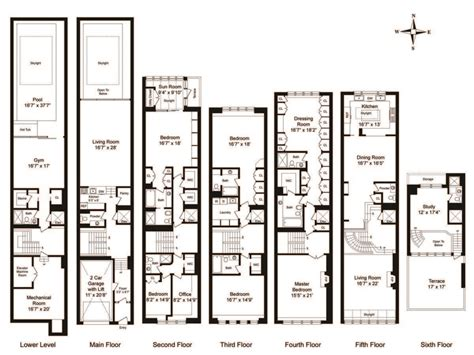 Townhouse Floor Plans With Garage On A Hill