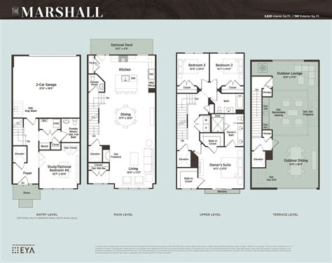 Townhouse Plans With Large Garage Floor