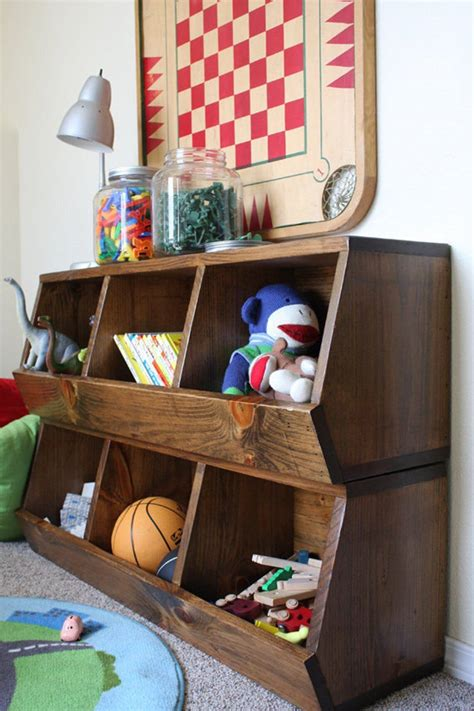 Toy Bin Organizer Plans