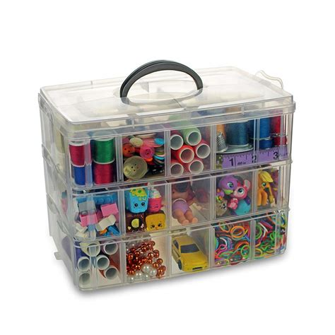 Toy Box With 3 Compartments With Lids