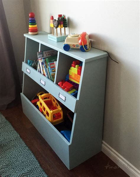 Toy Box Wood Cubbies For Storage