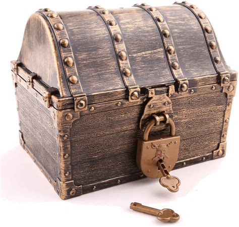 Toy Pirate Treasure Chest With Key