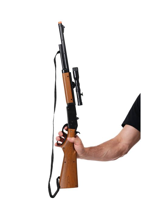 Toy Bolt Action Repeater Rifle With Scope And 1940s Rifle