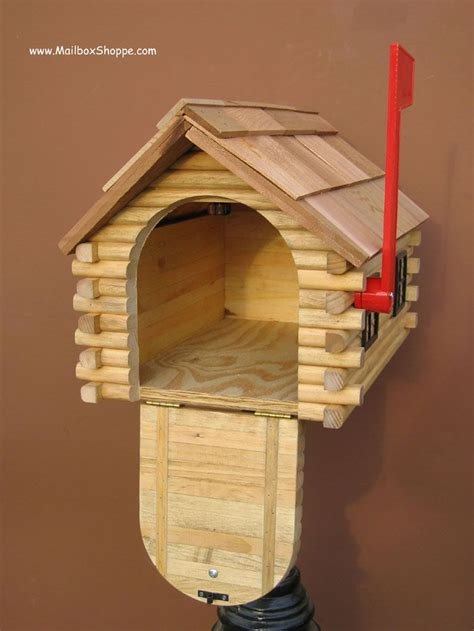 Tractor Log Cabin Mailbox Woodworking Plans