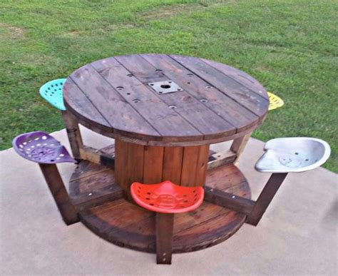 Tractor Seat Table Diy Chalk