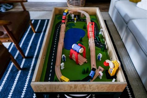 Train Table With Storage Diy Ideas