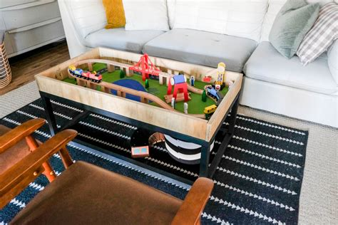 Train Table With Storage Diy With Jars