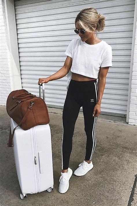 Traveling Outfit Joggers And Adidas Sneakers