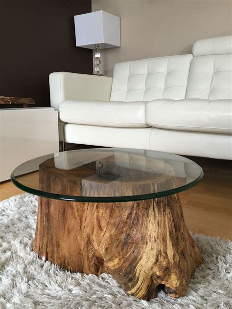 Tree Stump Coffee Table Diy Bench