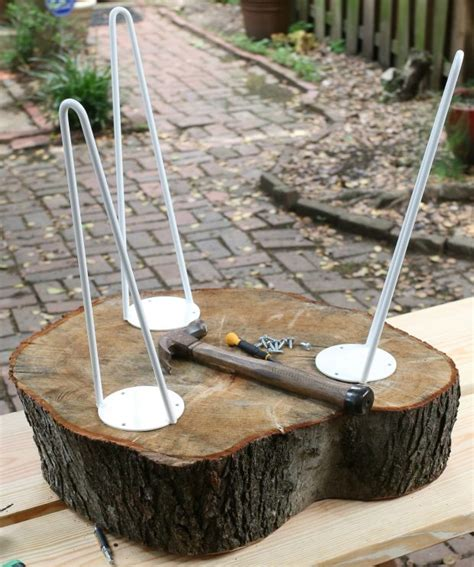 Tree Stump End Tables DIY
