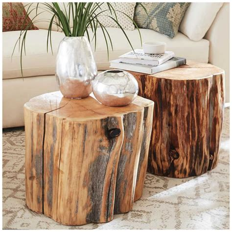 Tree Trunk Coffee Table Diy
