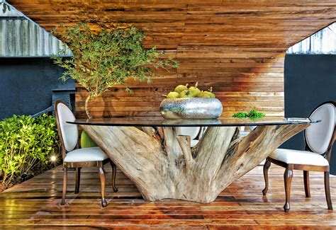 Tree Trunk Dining Table Diy Plans