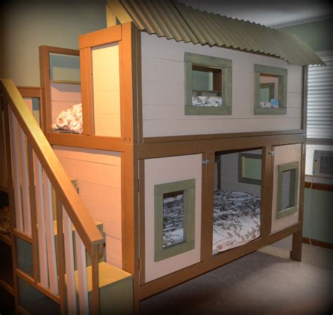 Tree-House-Bunk-Bed-Plans