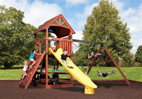 Tree-House-Swing-Set-Plans