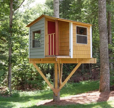 Treehouse Plans One Tree