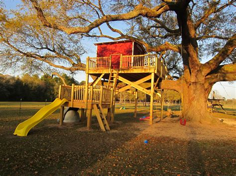 Treehouse-With-Slide-Plans