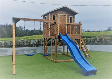 Treehouse-With-Swing-And-Slide-Plans