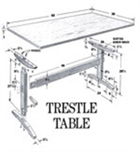 Trestle Table Plans Popular Mechanics