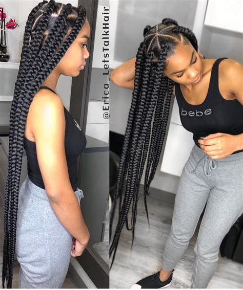 Triangle Box Braids Instagram