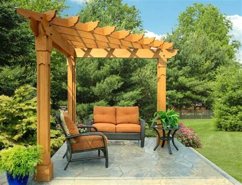 Triangle Outdoor Pergola Free Plan
