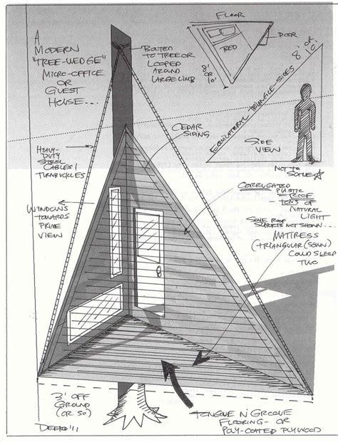 Triangle-Tree-House-Plans