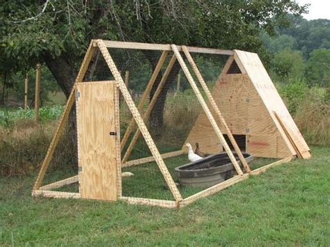 Triangular Chicken Coop Plans