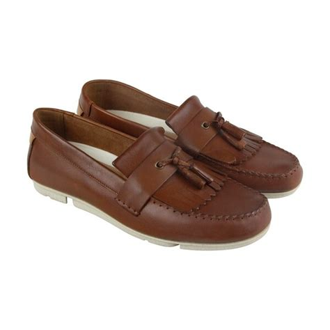 Trimocc Free Mens Tan Beige Leather Casual Dress Slip On Loafers Shoes