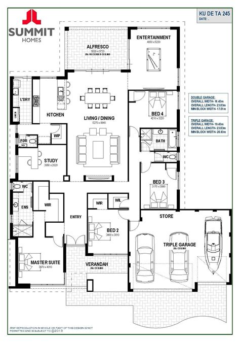 Triple Garage Floor Plans