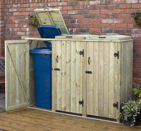 Triple Wheelie Bin Storage Diy