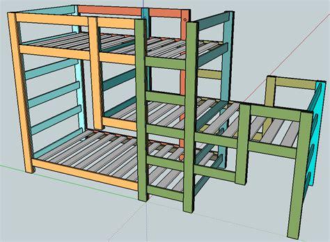 Triple-Loft-Bunk-Bed-Plans-Free