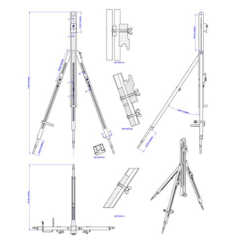 Tripod Easel Woodworking Plans