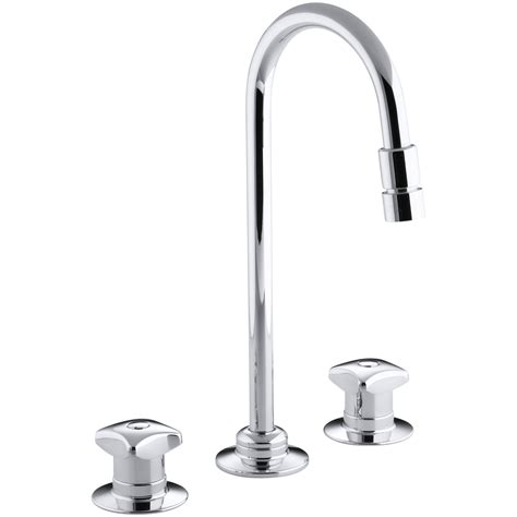 Triton Widespread Commercial Bathroom Sink Faucet With Rigid Connections, Requires Handles, Drain Not Included