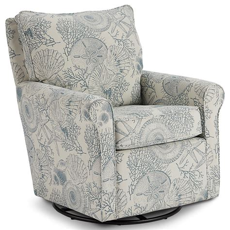 Tropical Patterned Swivel Recliners