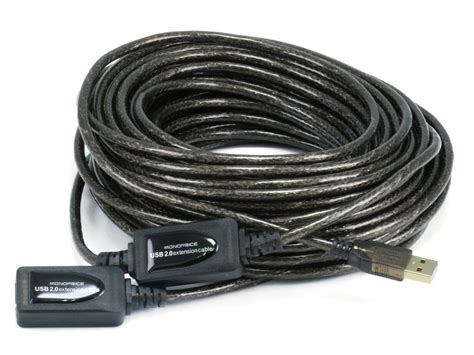 TruDx - 65ft 20M USB 2.0 A Male to A Female Active Extension / Repeater Cable (Kinect & PS3 Move Compatible Extension)