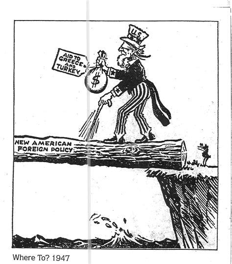 Truman Doctrine Political Cartoon