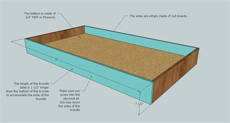 Trundle Wood Bed Plans