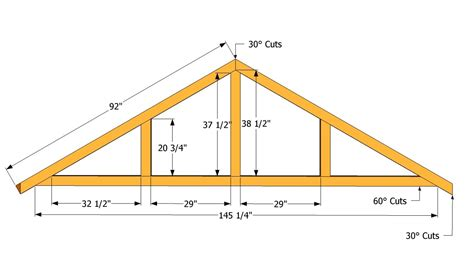 Truss Building Plans For A 5 12 Roof