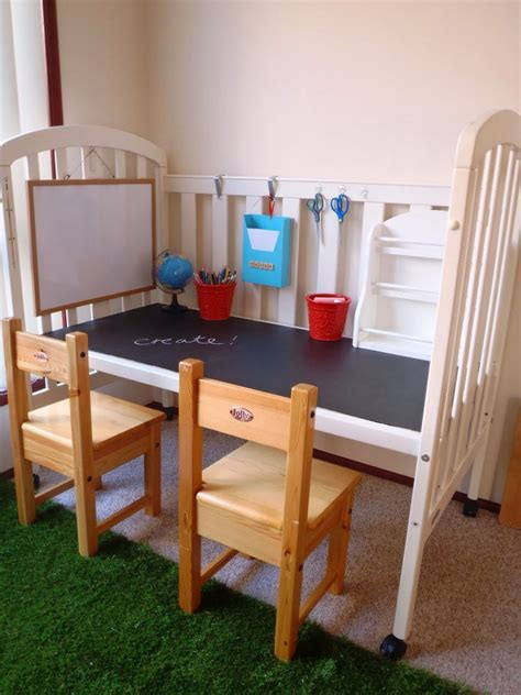 Tufted Crib Diy Desk